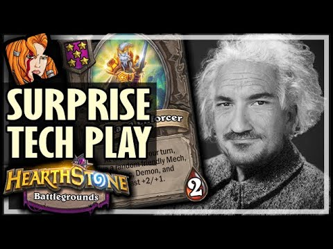 THE SURPRISE TECH PLAY! - Hearthstone Battlegrounds