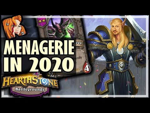 MENAGERIE WINS IN 2020?! - Hearthstone Battlegrounds