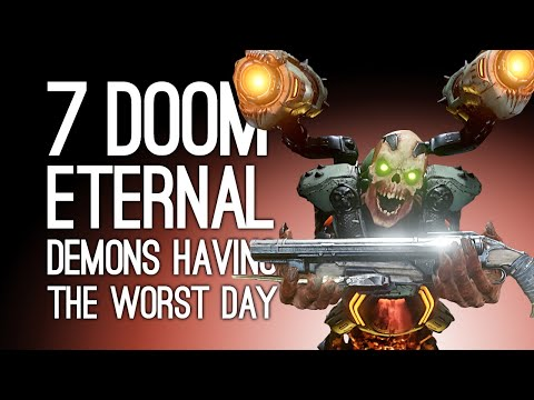 Doom Eternal: 7 Demons Having the Worst Day Possible in Doom Eternal Gameplay