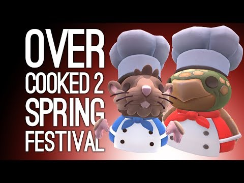Overcooked 2 Spring Festival Xbox Gameplay: HAPPY YEAR OF THE RAT! 🐀(Let's Play Overcooked 2 DLC)