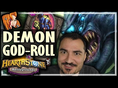 THE DEMON GOD-ROLL - Hearthstone Battlegrounds