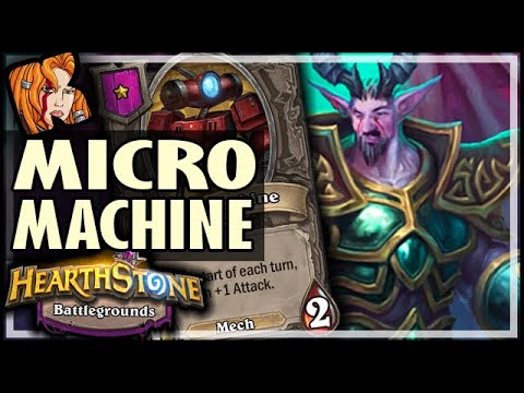MICROMACHINE IS ACTUALLY GOOD?! - Hearthstone Battlegrounds