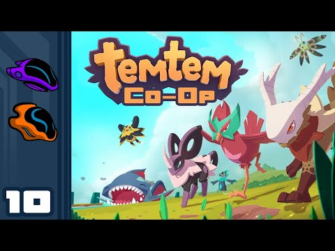 Let's Play Temtem [Co-Op] - PC Gameplay Part 10 - Sit Back, Relax, And Let Chelle Beat The Boss