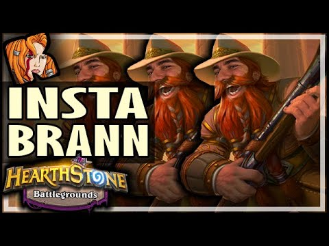 INSTANT TRIPLE BRANN! - Hearthstone Battlegrounds