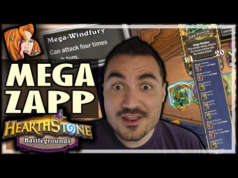 30/36 MEGA-WINDFURY WTF?! - Hearthstone Battlegrounds