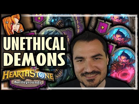 THE UNETHICAL DEMON RUN - Hearthstone Battlegrounds