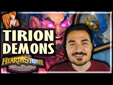 TIRION GOES DEMONS AS WELL?! - Hearthstone Battlegrounds