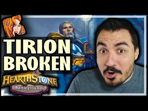 TIRION IS BREAKING BATTLEGROUNDS?! - Hearthstone Battlegrounds