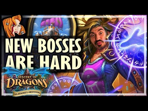 NEW BOSSES ARE ACTUALLY HARD?! - Hearthstone