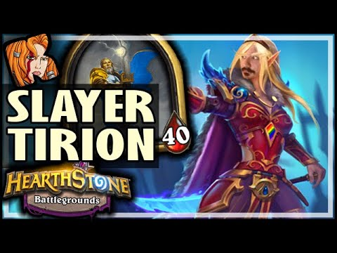 TIRION IS SLAYER OF THE WEAK! - Hearthstone Battlegrounds