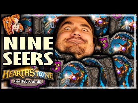 9 COLDLIGHT SEERS AREN'T ENOUGH?! - Hearthstone Battlegrounds