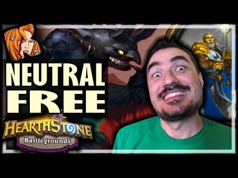 NEUTRAL FREE TIRION?! - Hearthstone Battlegrounds