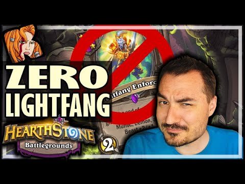 ZERO LIGHTFANG MENAGERIE BUILD?! - Hearthstone Battlegrounds