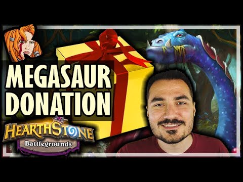 I GOT A MEGASAUR DONATION! - Hearthstone Battlegrounds