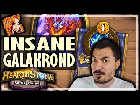 INSANE NEW GALAKROND BUILD! - Hearthstone Battlegrounds