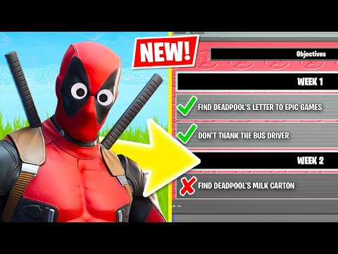 New DEADPOOL Challenges!! (Fortnite Battle Royale)