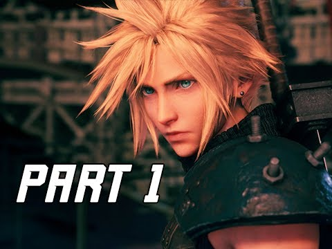 FINAL FANTASY 7 REMAKE Walkthrough Part 1 - Intro (FF7 4K Demo)