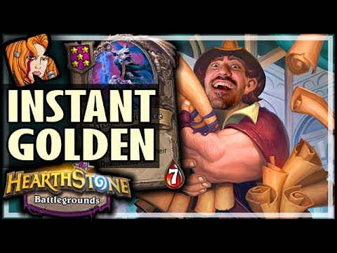 RENO = INSTANT GOLDEN BARON! - Hearthstone Battlegrounds