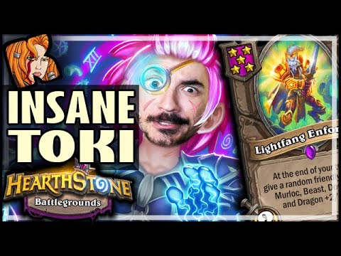 TOKI IS INSANE AGAIN?! - Hearthstone Battlegrounds