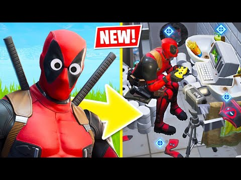 New DEADPOOL SKIN Challenges!! (Fortnite Battle Royale)