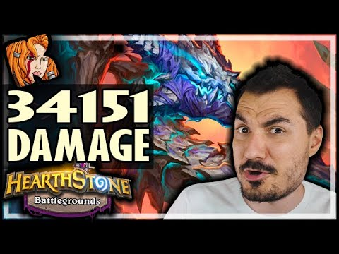 34151 DAMAGE IN ONE TURN?! - Hearthstone Battlegrounds