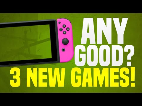 Are They Any Good!? 3 NEW Switch Games on the Nintendo eShop JUST Released!