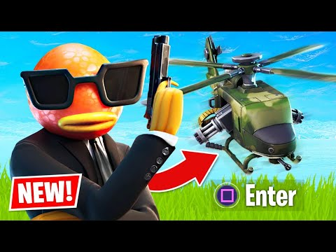 New Update HELICOPTER Gameplay! (Fortnite Battle Royale)