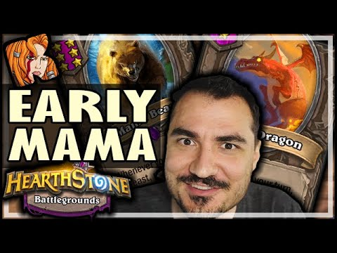 EARLY MAMA? PERFECT GAME! - Hearthstone Battlegrounds