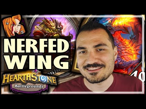 HOW GOOD IS NERFED-WING?! - Hearthstone Battlegrounds