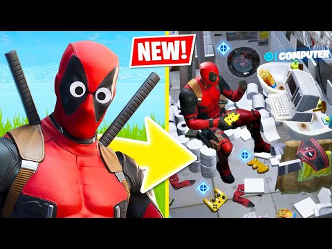 New DEADPOOL Challenges! (Fortnite Battle Royale)