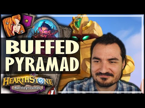 BUFFED PYRAMAD = INSANE EARLY GAME - Hearthstone Battlegrounds