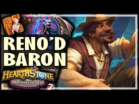 RENO'D BARON + JUNK-RATTLES! - Hearthstone Battlegrounds