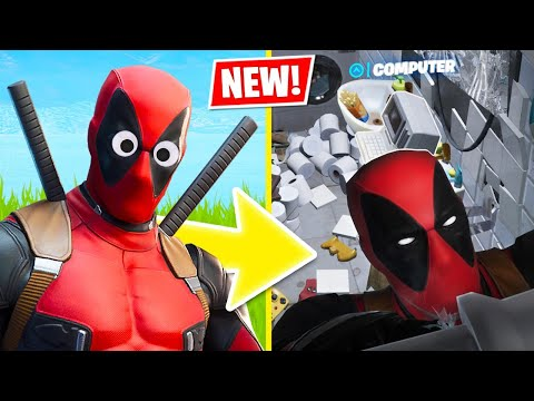 New DEADPOOL SKIN Challenges! (Fortnite Battle Royale)