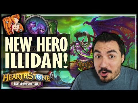ILLIDAN IN BG = CLEAVEMANIA! - Hearthstone Battlegrounds