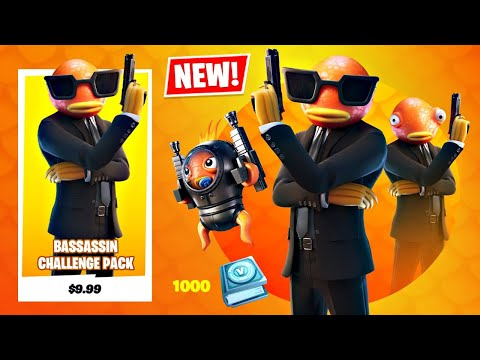 New JAMES BOND FISH Skin Pack! (Fortnite Battle Royale)