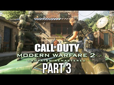 CALL OF DUTY MODERN WARFARE 2 REMASTERED Gameplay Walkthrough Part 3 - Takedown & Wolverines
