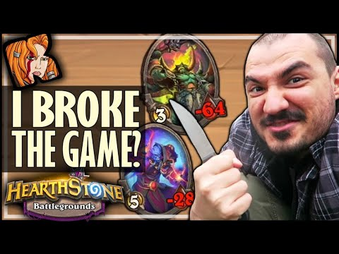 MY GAME ACTUALLY BROKE WTF?! - Hearthstone Battlegrounds