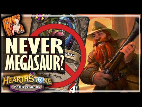 NEVER MEGASAUR? NEVER LUCKY! - Hearthstone Battlegrounds