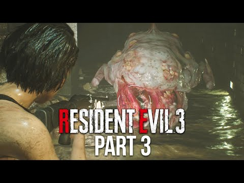 RESIDENT EVIL 3 REMAKE Gameplay Walkthrough Part 3 - ZOMBIE TOAD (Full Game)