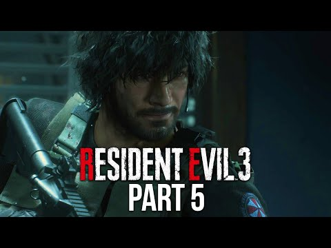 RESIDENT EVIL 3 REMAKE Gameplay Walkthrough Part 5 - CONTROLLING CARLOS (Full Game)