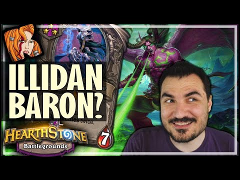 NEW ILLIDAN BARON BUILD! - Hearthstone Battlegrounds