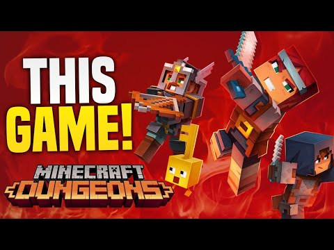 Minecraft Dungeons IS GOING TO BE EPIC On Nintendo Switch! Minecraft Dungeons Gameplay