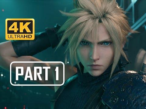 FINAL FANTASY 7 REMAKE Walkthrough Part 1 - First Hour!!! (4K PS4 Pro Gameplay)