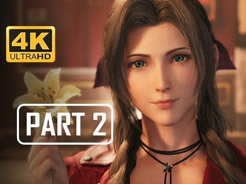 FINAL FANTASY 7 REMAKE Walkthrough Part 2 - Aerith Gainsborough (4K PS4 Pro Gameplay)