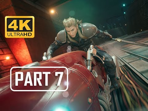 BOSS MOTORCYCLE ROCHE - FINAL FANTASY 7 REMAKE Walkthrough Part 7 (4K PS4 Pro Gameplay)