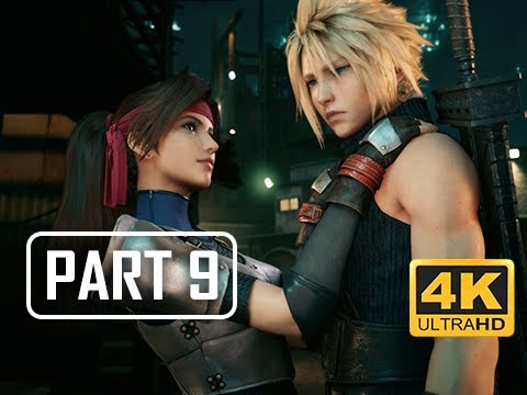 FINAL FANTASY 7 REMAKE Walkthrough Part 9 - Jessie (4K PS4 Pro Gameplay)