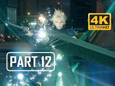 FINAL FANTASY 7 REMAKE Walkthrough Part 12 - Sun Lamps (4K PS4 Pro Gameplay)