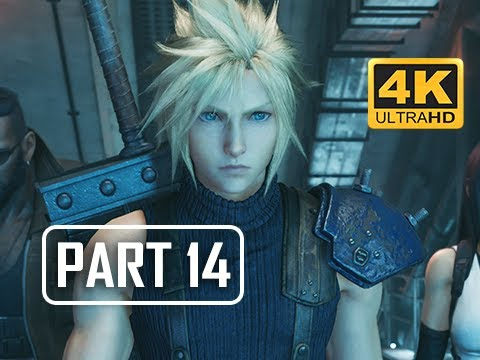 FINAL FANTASY 7 REMAKE Walkthrough Part 14 - Mako Reactor 5 (4K PS4 Pro Gameplay)