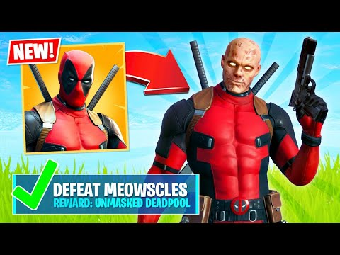 UNLOCKING DEADPOOL UNMASKED! (Fortnite Battle Royale)
