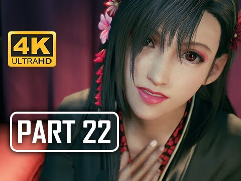 GEISHA TIFA - FINAL FANTASY 7 REMAKE Walkthrough Part 22 (4K PS4 Pro Gameplay)
